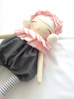 Little Miss Tippy Toe Cloth Doll by NatalieCreating on Etsy
