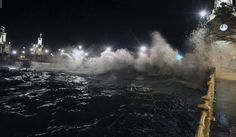golven bij avond...
