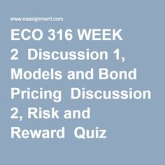 eco 316 week 4 chapter 20 Eco 316 week 4 quiz (chapter 19-24) (ash)  has a 10% chance of losing $10 million and a 90% chance of gaining $20 million, with an expected return of $17 million.