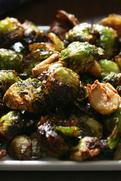Oven-Roasted Brussels Sprouts – NYT Cooking: If you haven't yet figured out a go-to recipe for brussels sprouts, this simple dish is the answer. It results in sweet caramelized brussels sprouts that will make a believer out of anyone. Vegetable Side Dishes, Vegetable Recipes, Vegetarian Recipes, Cooking Recipes, Healthy Recipes, Skillet Recipes, Oven Recipes, Cooking Food, Side Dish Recipes