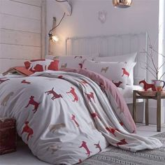 Catherine Lansfield Home Hounds Duvet Cover Set, $24.55