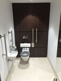 Public disabled toilet installed by Capital Prime fit out solutions.