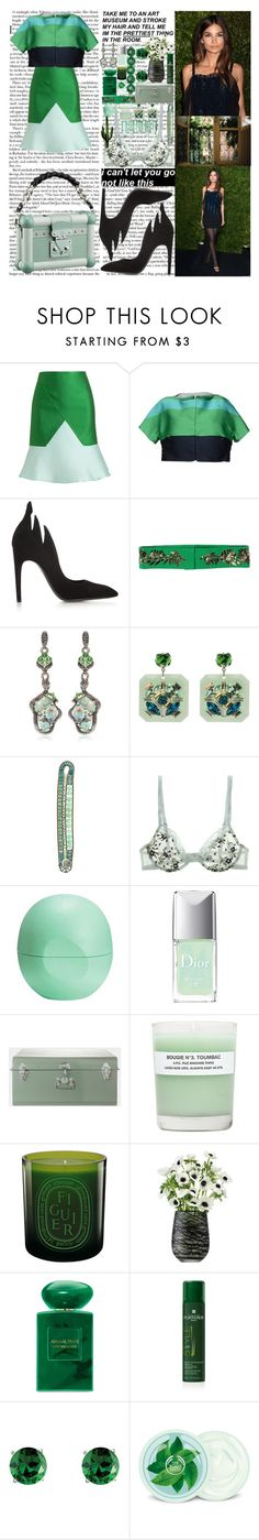 """""""You know this was never really about us And everything was always 'bout you You never knew a thing about trust And I knew everything about you, what's happening Three whole years, they can go by In a blink of an eye, and you won't know it,"""" by labelsoflove ❤ liked on Polyvore featuring Ostwald Helgason, P.A.R.O.S.H., Louis Vuitton, Bottega Veneta, Vionnet, Wendy Yue, Miss Julie, Ziio, Moschino and Eos"""