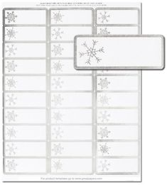 Silver Snowflakes Address Labels
