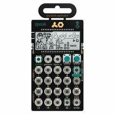 a operador de bolsillo teenage engineering po35 hablar sintetizador vocal secuenciador