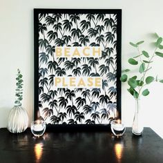 Bring those beach vibes into your home with  this expensive way to make your own wall art!