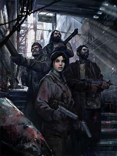 Concept art for Left 4 Dead, Valve. Post Apocalypse, Apocalypse World, Zombie Rpg, Arte Zombie, Post Apocalyptic Art, Post Apocalyptic Fashion, Cyberpunk, Character Inspiration, Character Art