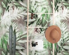 Wallpaper Mural Tricks: How to Choose and Install Painted Cottage, Shabby Cottage, Cottage Chic, Wallpaper Suppliers, Tropical Wall Decor, I Wallpaper, Tropical Wallpaper, Traditional Wallpaper, Bright