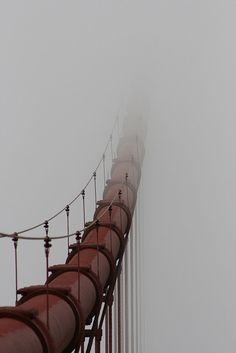 The fog sitting on the Golden Gate Bridge in San Francisco. The Journey, Suspension Bridge, San Fransisco, San Francisco California, Pacific Coast, Northern California, Golden Gate Bridge, Bay Area, Beautiful World