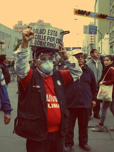 """""""Salud está en la calle por culpa del gobierno"""", decía una de las pancartas [Foto: Candy Castro / Spacio Libre]"""