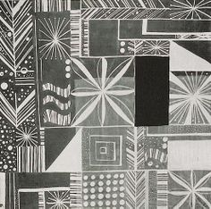 Textile design by Jacqueline Groag, produced in 1930.