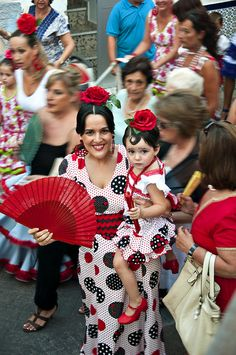 Spanish mother and child at Fiesta
