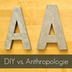 Make your own Anthro inspired letters with this simple tutorial