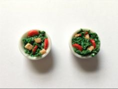 Salad - Polymer Clay Tutorial - Miniature Food Tutorial - YouTube