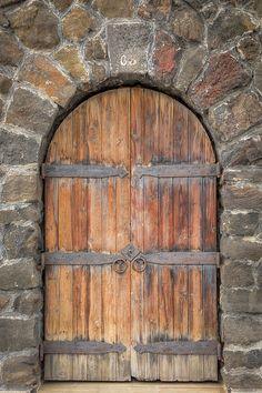 Kona Door 0832 by Kristina Rinell Door Entryway, Entrance Doors, Doorway, Cool Doors, Unique Doors, Garden Doors, Fairy Doors, Wine Cellar Basement, Medieval Door