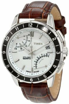 Timex Men's T2N496 Intelligent Quartz SL Series Fly-Back Chronograph Brown Leather Strap Watch Timex. Date feature. IQ? Fly-back Chronograph. Second time zone. Indiglo® Night-Light. Water-resistant to 330 feet (100 M)
