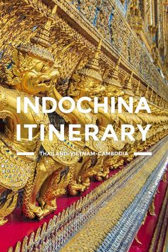 Indochina Itinerary - Thailand-Cambodia-Vietnam Tour & Budget Trip for First-Timers Vietnam Travel Guide, Thailand Travel Guide, Asia Travel, Travel Trip, Travel Destinations, Cambodia Itinerary, Cambodia Travel, Laos Vietnam, Vietnam Tours