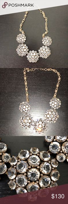 J. Crew Statement Necklace Authentic J. Crew cluster necklace in excellent condition. Rare and limited necklace. J. Crew Jewelry Necklaces