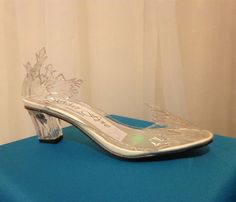 Frozen Elsa Ice Shoe Heels by SilverFyreStudio on Etsy, $119.00