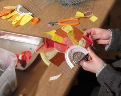 Gotta love free art supplies from re-purposed plastic marine debris!