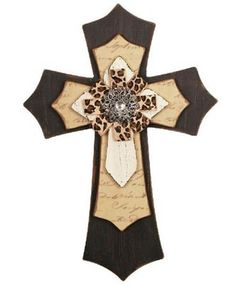 cross decorating ideas minus the leopard print design.....