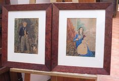 This is a pair of portraits Watercolours. Wonderfully painted Vibrant colours Primitive These are under glass. Antiques Atlas Watercolour Paintings, Watercolor Portraits, Watercolours, Mother And Baby, See Photo, Primitive, Vibrant Colors, Old Things, Museum