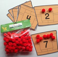 IDEA ONLY!  No printables.  Could use tongs or tweezers for small motor activity.  Could also include trees and children could pick the apples from the numbered trees (2 apples on the #2 tree) and place them in the numbered baskets////math - apple theme. Perfect for Johnny Appleseed week in two weeks!