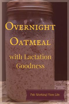 Make this easy overnight oatmeal lactation breakfast. Try this lactation oatmeal recipe for a healthy breastfeeding-friendly breakfast. Lactation Oatmeal Recipe, Lactation Recipes, Lactation Cookies, Oatmeal Recipes, Lactation Foods, Lactation Smoothie, Sin Gluten, Making Oatmeal, Recipes