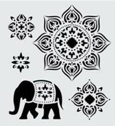 FolkArt ® Handmade Charlotte™ Stencils - Tangier pattern with elephant