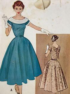 50s McCall's 9611 Dress Bust 32 19+fr