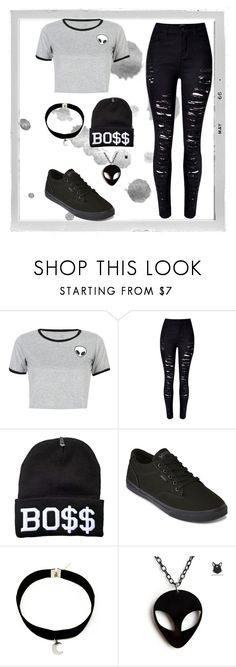 """""""She's a rebel."""" by beckemmeline on Polyvore featuring Polaroid, WithChic and Vans"""