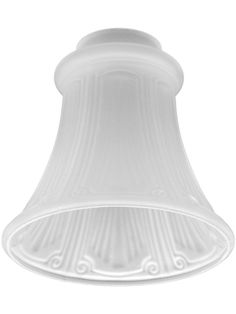 "Satin Crystal Fluted Pan-Light Shade with 2 1/4"" Fitter 