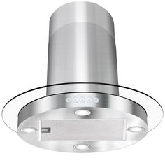 AKDY - 30 in. Convertible Kitchen Island Mount Range Hood in Stainless Steel with Circular Tempered Glass Design - Island Mount Range Hoods Kitchen Tops, Glass Kitchen, Kitchen Island, Kitchen Redo, Design Kitchen, Island Range Hood, Range Hoods, Stainless Steel Island, Brushed Stainless Steel
