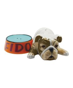 Take a look at this Fido & Pet Bowl Salt & Pepper Shakers by Westland Giftware on #zulily today!
