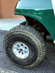 See how custom golf cart wheels and tires transforms a cart? #customgolfcartwheels Custom Golf Cart Bodies, Custom Golf Carts, Golf Cart Wheels, Wheels And Tires, Custom Body Kits, Fender Flares, Monster Trucks, Accessories, Products