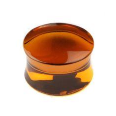 Amber Obsidian Stone Plug  buddhajewelryorganics.com