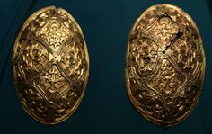 viking age brooches from norway.  historisk museum, oslo, norway
