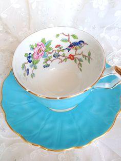 English Fine Bone China Aynsley Teacup and by MariasFarmhouse, $59.00
