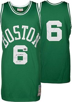 c935eabe8 ... Bill Russell Boston Celtics Autographed Green Mitchell and Ness Jersey  with 5x MVP Inscription - Fanatics ...