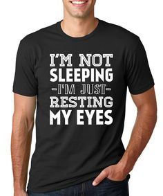 Look at this SignatureTshirts Black 'I'm Just Resting My Eyes' Tee - Men's Regular on #zulily today!