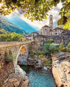 In Lavertezzo, Switzerland. - In Lavertezzo, Switzerland. In Lavertezzo, Switzerland. Dream Vacations, Vacation Spots, Beautiful Places To Travel, Travel Aesthetic, Aesthetic Girl, Future Travel, Wonders Of The World, Adventure Travel, Places To See
