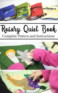 Rosary Quiet Book Felt Pattern and Instructions Catholic Prayers, Catholic Crafts, Catholic Kids, Church Crafts, Felt Books, Quiet Books, Bible Quiet Book, Children's Bible, Ideas