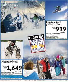 Esquí en Banff y Lake Louis Alberta Canadá desde $939