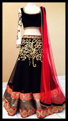 Lovely Designer Multi Color Lehenga, wedding lehenga, chaniya choli, half saree