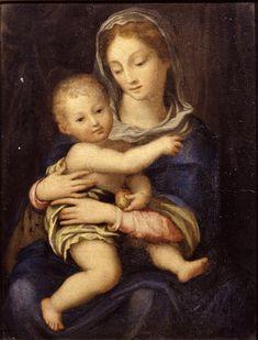 Domenico Beccafumi (cerchia di) - Madonna con Bambino - 1525-1545 - Accademia Carrara di Bergamo Pinacoteca