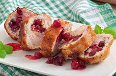 RECEPT: Kuracia rolka na mede s brusinkami via Cranberry Chicken, Main Dishes, French Toast, Rolls, Stuffed Peppers, Healthy Recipes, Breakfast, Sweet