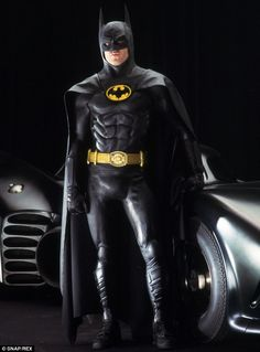 Body armour: Previous costumes have featured designs that strayed from the comic book, Michael Keaton pictured as the vigilante in 1989's Ba...