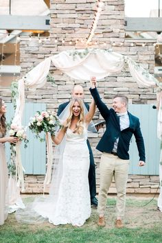 Romantic wedding arbor inspiration.  Romantic blush backyard Arizona garden wedding by Pinkerton Photography, Arizona Wedding Photographer.