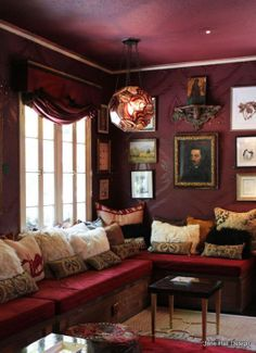 Best Paint Color For Living Room With Burgundy Furniture Painting And Dining Colors 22 Walls Images Combinations A Look Inside The Home Of Lighting Designer Marjorie Skouras Roomburgundy Wallsred Wallsburgundy