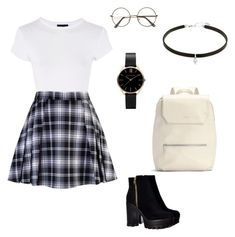 """school/college look #6"" by kiwiid on Polyvore featuring Topshop, Matt & Nat and Carbon & Hyde"